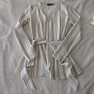 White and tan blazer